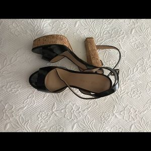 Boston proper black platform sandals